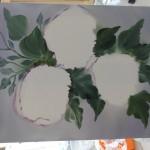 Blüten skizzieren / Blätter malen
